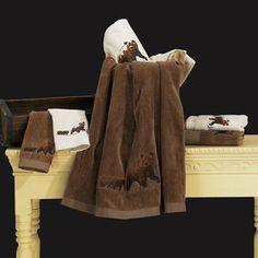 Bear 3 PieceTowel Set Color: Brown