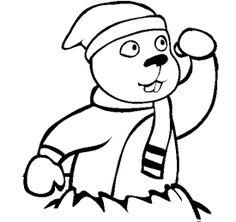 groundhog day wear the hat coloring page