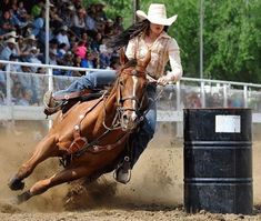(via Women's Professional Rodeo Association) Barrel Race, Barrel Racing Horses, Barrel Horse, Cowgirl And Horse, Horse Love, Horse Riding, Westerns, Rodeo Girls, Rodeo Life