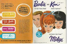 VTG 1962 Mattel Kokusai Boeki Kaisha LTD Barbie and Ken Miniature Catalogue II