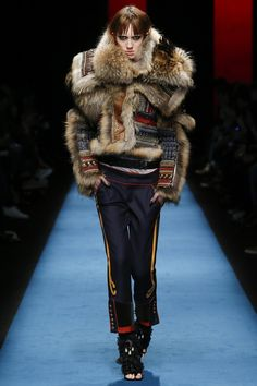 A catwalk display reiterating the Caten twins can do showmanship well
