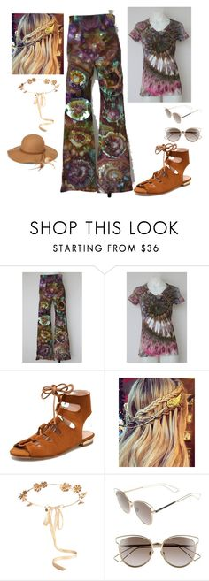 """""""Ice Tie Dye, New Trend"""" by freida-adams ❤ liked on Polyvore featuring Eugenia Kim, Christian Dior and Steve Madden"""
