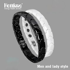 Hottime Black White Bio Elements Energy Ceramic Bracelet Bangle Lovers Magnetic Germanium Health Chain Charms Women Men Jewelry  Up to 90% OFF and FREE shipping On #Bracelets and Other Designer #Jewelry - www.ouronlinejewelryshop.com #etsy #Rings #BodyJewelry #Earrings #Anklets #Necklaces #MensJewelry #vintage #fashion #handmade #vjse2 #Bohemian #teamlove #StyleFashionHub #VogueParis