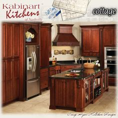 Kabinart Kitchens   Like This But The Fridge Needs To Be Counter Depth