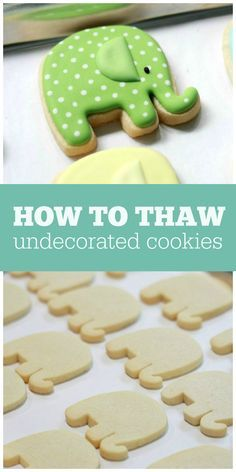 to Thaw Frozen Undecorated Cut-Out Cookies Thawing Undecorated Cut-Out Cookies Fancy Cookies, Iced Cookies, Cut Out Cookies, Cute Cookies, Easter Cookies, Cupcake Cookies, Sugar Cookies, Cookies Et Biscuits, Cookie Favors