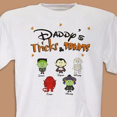 Get dad in on the Halloween fun with this great personalized t-shirt!   Shop www.justbecuzzinc.com now and receive 20% off for a limited time only  (use DISC20)