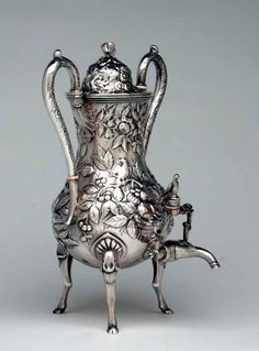 Antique silver tea urn