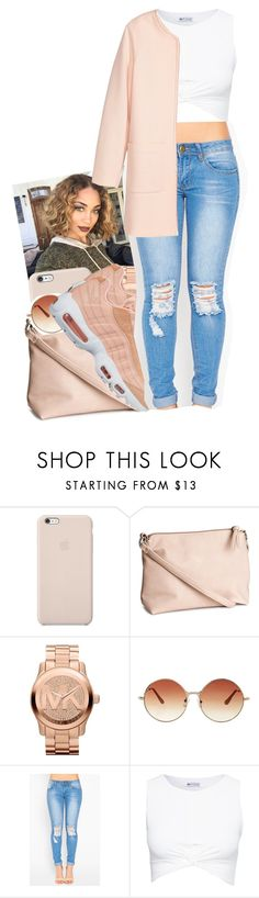 """""""just a lil different"""" by txoni ❤ liked on Polyvore featuring Black Apple, H&M, Michael Kors, Topshop, NIKE and Jakke"""