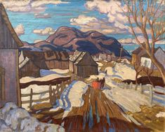 Jackson - Early Spring Quebec 24 x 32 Oil on canvas Museum Of Fine Arts, Art Museum, David Milne, Clarence Gagnon, Franklin Carmichael, Toledo Museum Of Art, Tom Thomson, Art Gallery Of Ontario