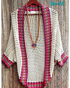 Bo-M: Cocconing in Bo-M - crochet shrug - Sweaters Gilet Crochet, Crochet Coat, Crochet Jacket, Crochet Cardigan, Love Crochet, Crochet Granny, Beautiful Crochet, Crochet Shawl, Crochet Clothes