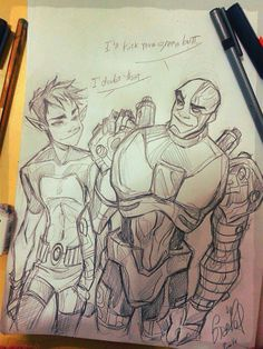Beast boy and cyborg