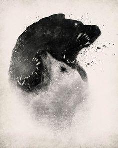 Illustrations / Yinyang Polar Bears by Dan Burgess — Designspiration
