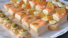 Easy canapés recipes for Christmas Canapes recipes for Christmas or other family celebrations. Combine different ingredients and create your own canapes. Easy Canapes, Canapes Recipes, Appetizers, Christmas Canapes, Christmas Recipes, Party Finger Foods, Sushi, Buffet, Cheesecake