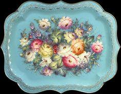 Hammered trays :: Zhostovo decorative art manufactory