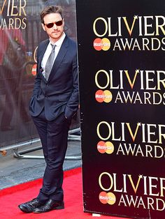 DAPPER DUDE | James McAvoy looks too cool for school hanging out on the red carpet of the Olivier Awards at the Royal Opera House in London on Sunday.