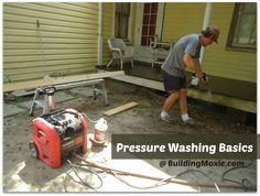 Pressure Washing Basics :: Like Sweeping but With Hi-Pressure Water