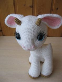 Here is a detailed crochet pattern of my Goatling Crochet Animal Patterns, Crochet Doll Pattern, Stuffed Animal Patterns, Crochet Patterns Amigurumi, Amigurumi Doll, Crochet Animals, Crochet Dolls, Doll Patterns, Crochet Mignon