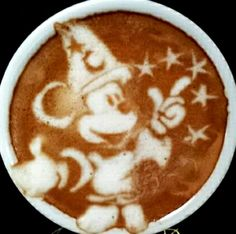 Mickey Mouse Koffie Art