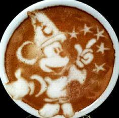 .·:*¨¨*:Coffee♥Art:*¨¨*:·.  #Mickey Mouse #latte
