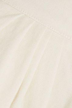 Chloé - Cotton And Linen-blend Shorts - White - FR36