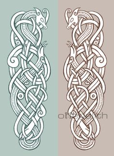 ✿ Tattoos ✿ Celtic ✿ Norse ✿ Doberman Pinscher Zoomorphic by omegalith Norse Tattoo, Celtic Tattoos, Armor Tattoo, Tattoo Symbols, Celtic Dragon, Celtic Art, Viking Dragon Tattoo, Vikings Art, Viking Knotwork