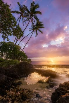 sunset, Pauoa Bay, outside of Muana Lani, Kona side of Hawaii