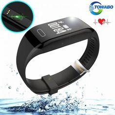 Towabo Fitness Tracker Wristband with Heart Rate monitor Activity Watch Step Walking Sleep Counter Pedometer Exercise for Android and iOS – Health and Nutriton Best Fitness Tracker, My Gems, Ios 8, Fitness Watch, Wearable Technology, Heart Rate Monitor, 6s Plus, Smart Watch, Smartwatch