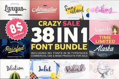 38 in 1 Font Bundle - Amazing Deal Handwriting Fonts, Script Fonts, Typography Fonts, Pretty Fonts, Cool Fonts, Brush Lettering, Hand Lettering, Font Packs, Character Map