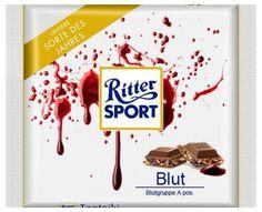 RITTER SPORT Fake Schokolade Blut