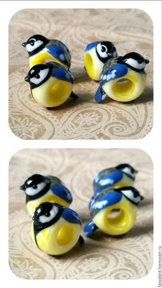 """Браслеты ручной работы. Ярмарка Мастеров - ручная работа. Купить """"Птички-птички, снегири-синички"""" шармы для браслета пандора. Handmade."""