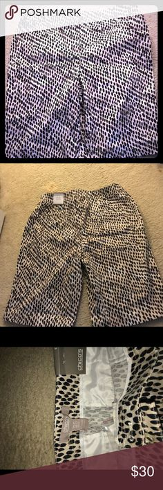 Nice Leopard Print Shorts Leopard Printed Shorts Size 5 Chico's Shorts Skorts