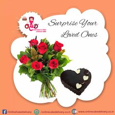 red roses with valentine's day chocolate cake. Valentine Day Cakes - ORDER and Send Valentine Day Cakes to your loved ones in Delhi NCR and make his/her day so memorable. Valentines Day Chocolates, Valentines Day Cakes, Freshly Baked, Yummy Cakes, Chocolate Cake, Red Roses, Cities, First Love, How To Memorize Things