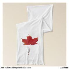 Red canadian maple leaf scarf