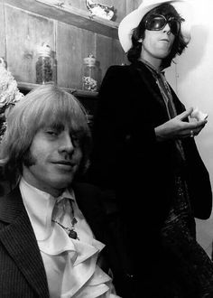 Brian & Keith. Brian Jones. Lewis Brian Hopkin Jones [28 February 1942 ― 3 July 1969] ♡ #BrianJOnes #IanStewart #KeithRichards #MickJagger #CharlieWatts #27Club #StonesIsm #Art
