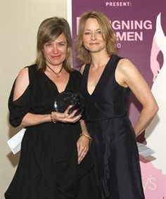2010 Designing Women Honoree and costume designer Susan Lyall with actress Jodie Foster.