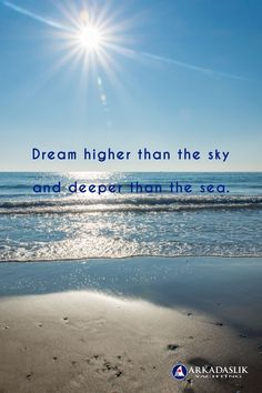 Dream higher than the sky, and deeper than the sea. #wordstoliveby #inspiration #motivation Turkey Holidays, Cruise Holidays, Dream High, Luxury Travel, Dream Vacations, Travel Quotes, Quote Of The Day, Travel Inspiration, Greece