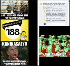 #9GAG Singapore made fun of airline campaign and #flyscoot just made nice reply