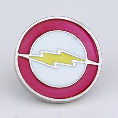 Top Grade movie jewelry superhero flash brooch pin Red yellow enamel lapel pin men badge pin hat tie tack brooch Christmas gift