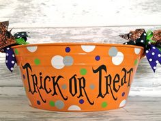 Personalized Halloween Tub  More Designs by monkeyseeboutique, $32.00