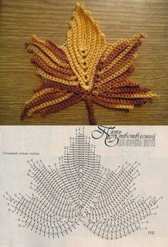"""Crochet_Stitches - """"This is just the right season to make this maple leaf pattern!"""" #KnittingGuru How would you use this? I'd love to see your suggestions!"""