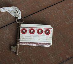 fantastic way to use gorgeous old keys Handmade Journals, Handmade Books, Paper Art, Paper Crafts, Diy Paper, Book Making, Card Making, Smash Book Inspiration, Album Book