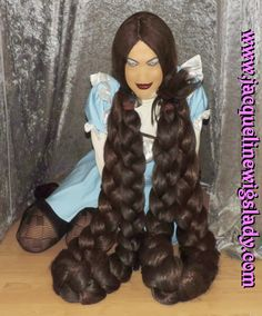 brown thick twin braids