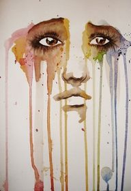 Tears in color.