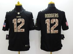 e3d93a092 Green Bay Packers 12 Aaron Rodgers Black 2014 Nike Salute TO Service  Jerseycheap nfl jerseys
