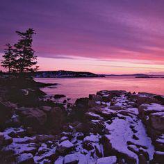Maine's Acadia National Park Winter Coast
