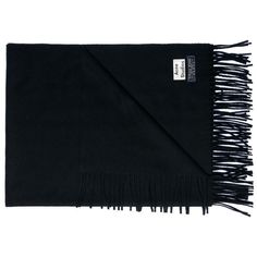 Acne Studios Canada black scarf (140 BRL) ❤ liked on Polyvore featuring accessories, scarves and acne studios