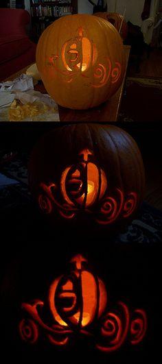 Disney Princess pumpkin carving patterns!