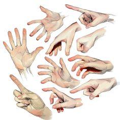 Anatomy Sketches, Anatomy Drawing, Art Sketches, Art Drawings, Digital Painting Tutorials, Digital Art Tutorial, Art Tutorials, Hand Drawing Reference, Art Reference Poses