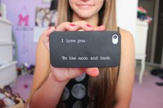 I love you to the moon and back case ♡ Pretty Iphone Cases, Ipod Cases, Cute Phone Cases, Friends Phone Case, Tumblr Quality, Disney Phone Cases, Cute Cases, Schneider, Iphone Accessories