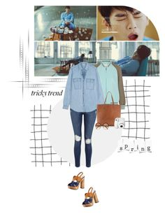 """""""Spring coming into my frozen heart..."""" by createjewels ❤ liked on Polyvore featuring Monday, 3.1 Phillip Lim, Frame Denim, MICHAEL Michael Kors, Miu Miu, Madewell, Polaroid, Cutler and Gross, musicvideo and 99koreansolo"""